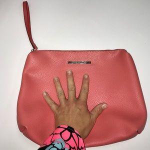 Steve Madden Peach Cosmetic Bag